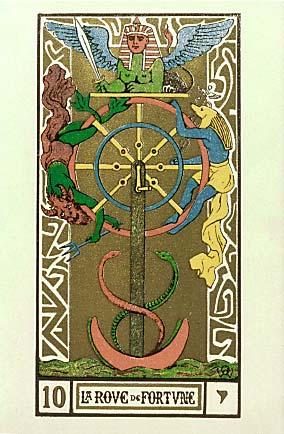 10 montre le serpent rouge dansant tarot 10 la roue de fortune wheel